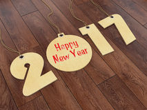 3D rendering 2017 New Year digits. On textural background Stock Photo