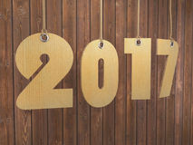 3D rendering 2017 New Year digits Stock Images