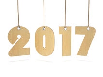 3D rendering 2017 New Year digits. On white background Royalty Free Stock Image