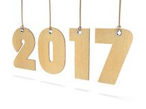 3D rendering 2017 New Year digits. On white background Royalty Free Stock Images