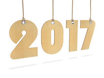 3D rendering 2017 New Year digits. On white background Stock Photo