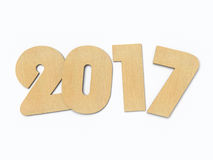 3D rendering 2017 New Year digits. On white background Stock Image