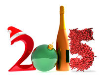 3d rendering of new year 2015. And happy new year greetings Stock Photo