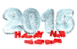 3d rendering of new year 2015. And happy new year greetings Stock Photography