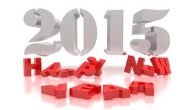 3d rendering of new year 2015. And happy new year greetings Royalty Free Stock Photo