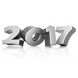 3D rendering New Year 2017 Royalty Free Stock Photo