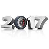 3D rendering New Year 2017 Stock Photos