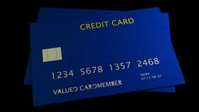 3d rendering of nice credit card with clear background Royalty Free Stock Photo