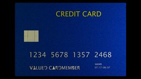 3d rendering of nice credit card with clear background Royalty Free Stock Photos