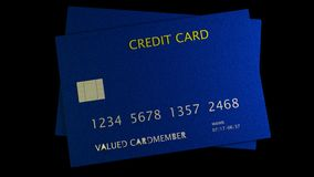 3d rendering of nice credit card with clear background Stock Images