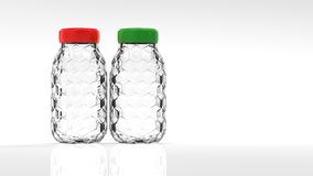 3d rendering nice glass bottle isolated with white background co Stock Photos