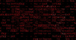 3d rendering of nice tax wording with nice background Royalty Free Stock Images
