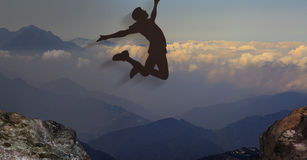 3d rendering of nice view and jump background with very nice bac Stock Photos