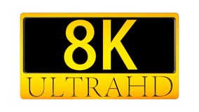 3d rendering of nice view of Ultra HD 8K ICON. The 3d rendering of nice view of Ultra HD 8K ICON Stock Illustration