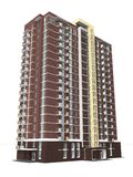 3d rendering nowożytny kondygnacja budynek mieszkalny Obrazy Royalty Free