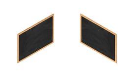 3d rendering obramiający czarny chalkboard w obusiecznym isometric widoku Ilustracji