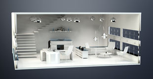 3D rendering office plan Royalty Free Stock Photography