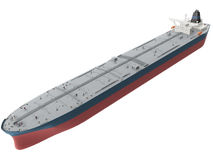 3d Rendering of an Oil tanker Stock Image