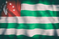 Abkhazia flag waving. 3d rendering of an old Abkhazia flag waving Stock Photography