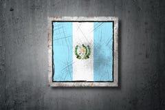 Guatemala flag in concrete wall Stock Photos
