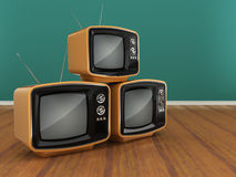 3D rendering old tv Royalty Free Stock Photo