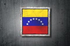Venezuela flag in concrete wall Stock Photography