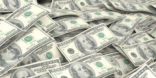 3d rendering one dollar banknotes background. 3d rendering one dollar banknotes as background Royalty Free Illustration