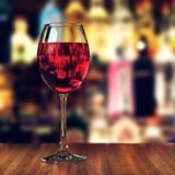 3D rendering one glass with red wine Stock Images