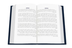 3D rendering of an open book on white background. 3D rendering of an open writtenbook  on white background Royalty Free Stock Images