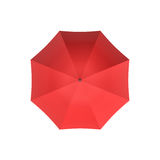 3d rendering of an open red umbrella isolated on white background. Royalty Free Stock Photos