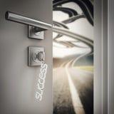 3D Rendering open success door Royalty Free Stock Photography