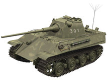 3d Rendering of a Panther Tank Royalty Free Stock Images