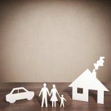 3D rendering paper family Stock Photo