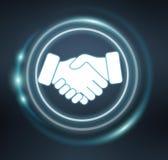 3D rendering partnership illustration interface. On blue background Stock Photo
