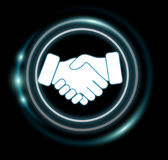 3D rendering partnership illustration interface. On dark background Royalty Free Stock Photography