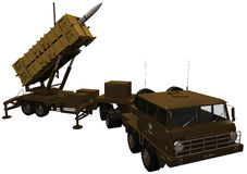 3d Rendering of a Patriot Missile Defense System Royalty Free Stock Photo