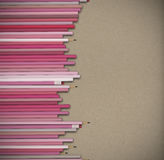 Pink pastel pencils background Royalty Free Stock Image