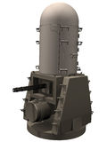 3d Rendering of a Phalanx CIWS. Close-in weapon system for defending against anti-ship missiles Stock Photos