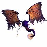 3d-illustration of an isolated fantasy firebird creature