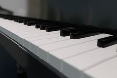3D rendering piano keyboard. 3D computer rendering of a piano keyboard in closeup Stock Photos