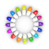 3d rendering of pills with dietary supplements Royalty Free Stock Photography