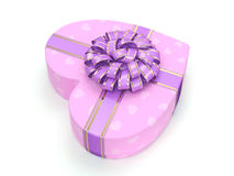 3D rendering Pink box heart Stock Photo