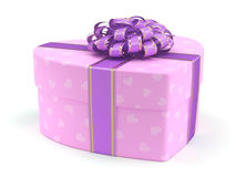 3D rendering Pink box heart Royalty Free Stock Photos