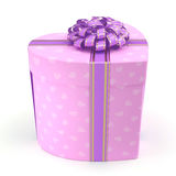 3D rendering Pink box heart Royalty Free Stock Images