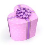 3D rendering Pink box heart Stock Images