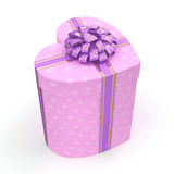 3D rendering Pink box heart Stock Photography