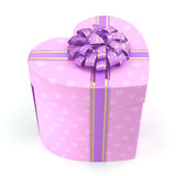 3D rendering Pink box heart Stock Photos