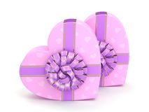 3D rendering Pink boxes heart Stock Photo