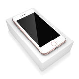 3D rendering pink smart phone with black screen Stock Image
