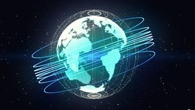 Planet earth and connections Royalty Free Stock Photography